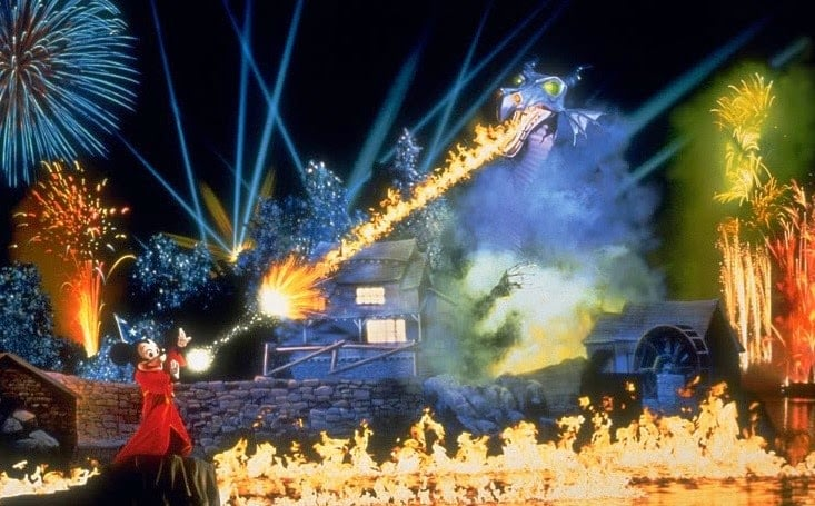 Show Fantasmic no Disney Hollywood Studios Orlando