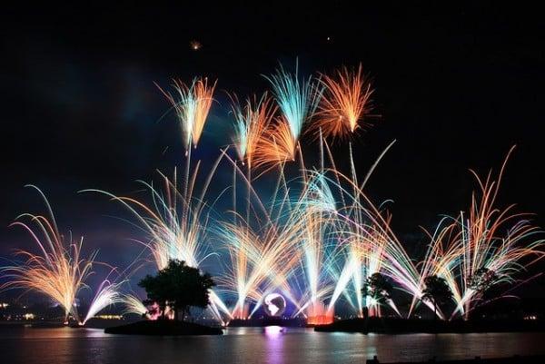 Show de fogos do Parque Disney Epcot
