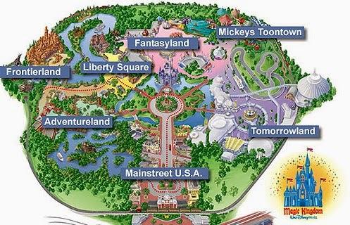 Parque Magic Kingdom da Disney Orlando: mapa do parque