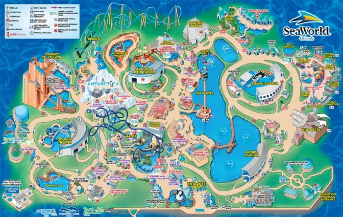 Mapa do Parque SeaWorld Orlando