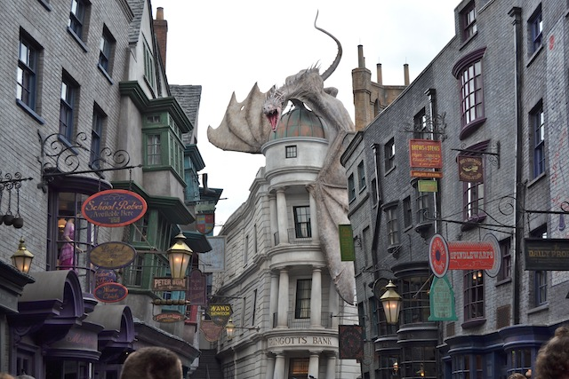 Beco Diagonal do Universal Studios em Orlando: Harry Potter