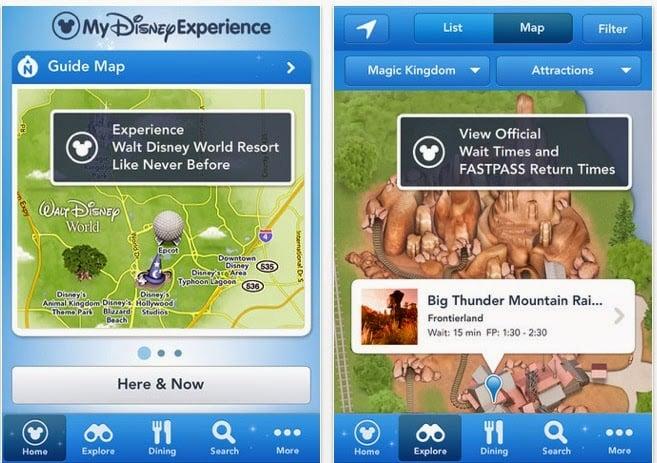 Parque Magic Kingdom da Disney Orlando: aplicativo My Disney Experience