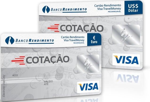 Cartão pré-pago com dólares da Cotação