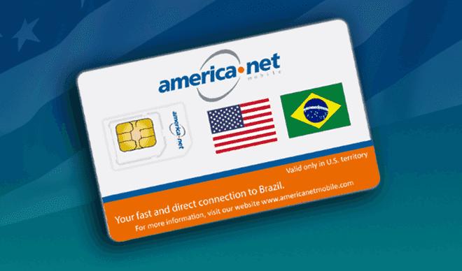 Chip pré-pago de celular da america net mobile para Orlando