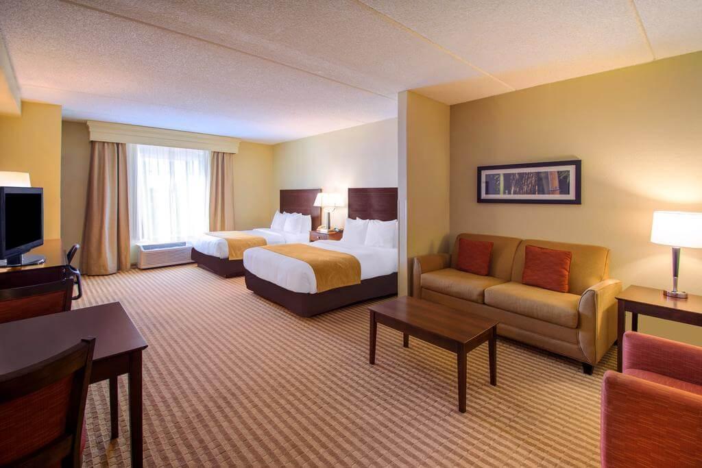 Dicas de hotéis em Orlando: Comfort Suites - quarto