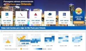 Passagem aérea promocional para Orlando