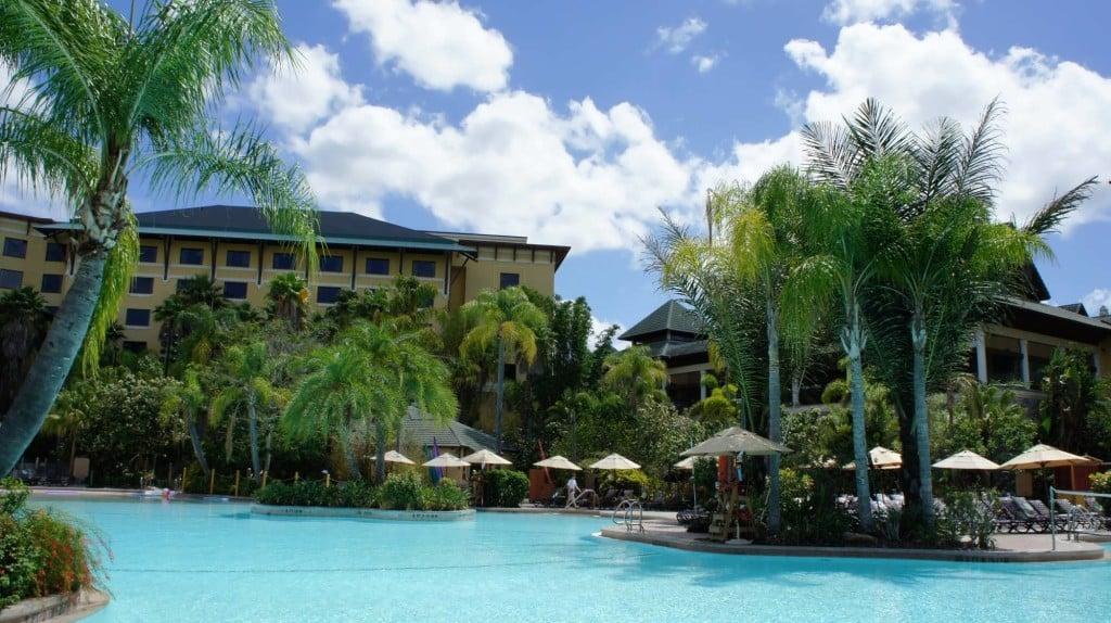 Pool area at Loews Royal Pacific Resort.