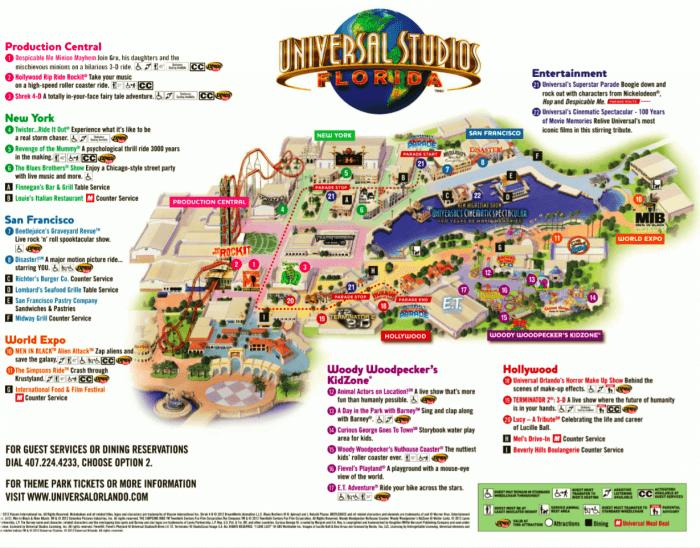 Mapa do Universal Studios Orlando