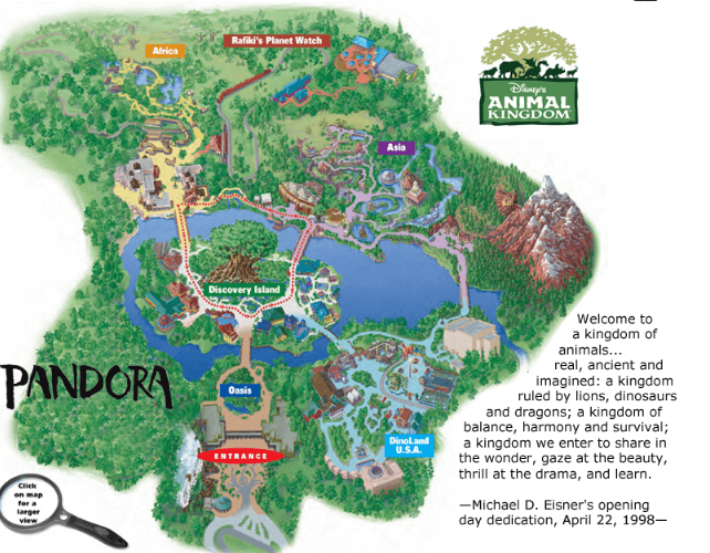Mapa Animal Kingdom