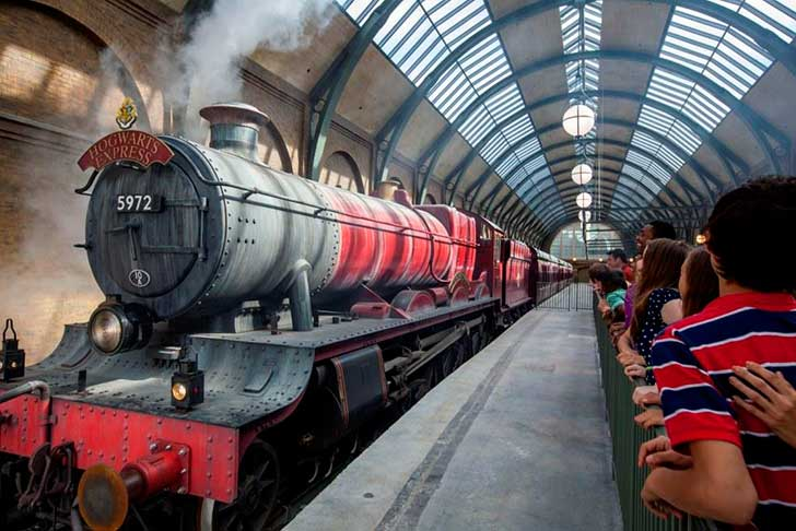 Trem do Harry Potter no Islands of Adventures