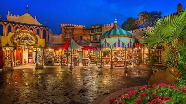 Loja Agrabah Bazaar na Disney