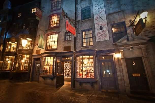 diagonal abbey ou Beco Diagonal do Harry Potter em Orlando