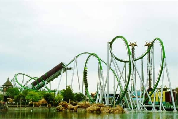 Montanha Russa do Hulk no Islands of Adventure Orlando