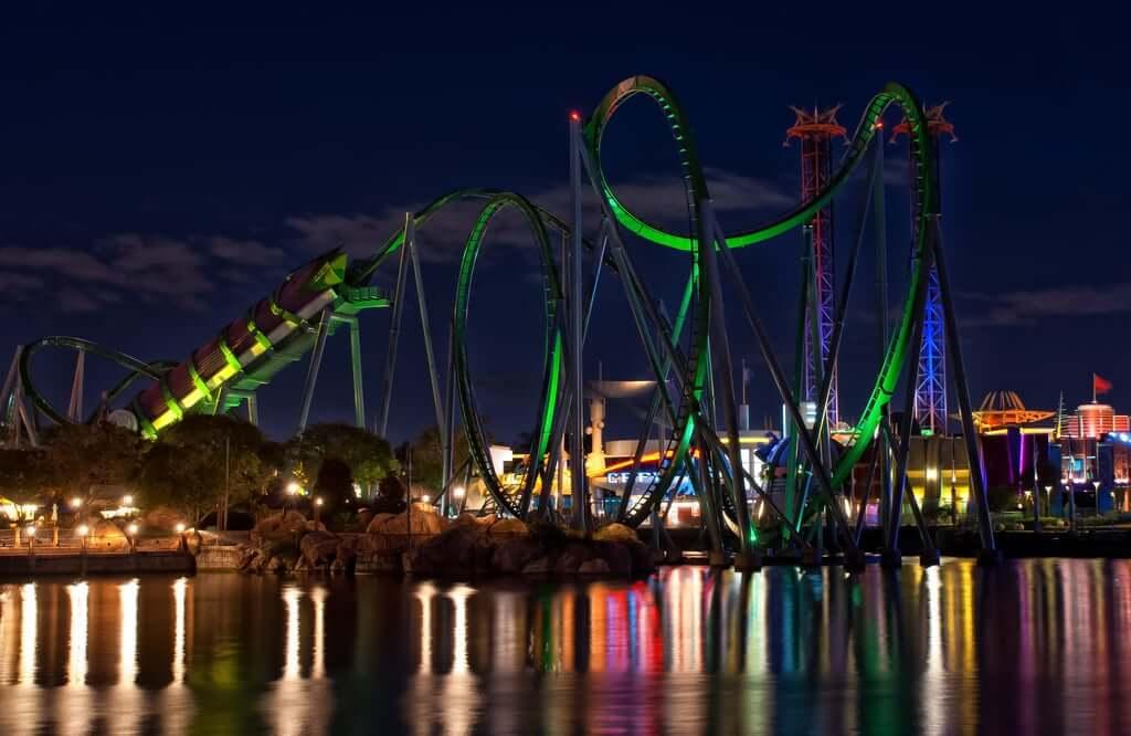 Melhores montanhas russas de Orlando: Hulk
