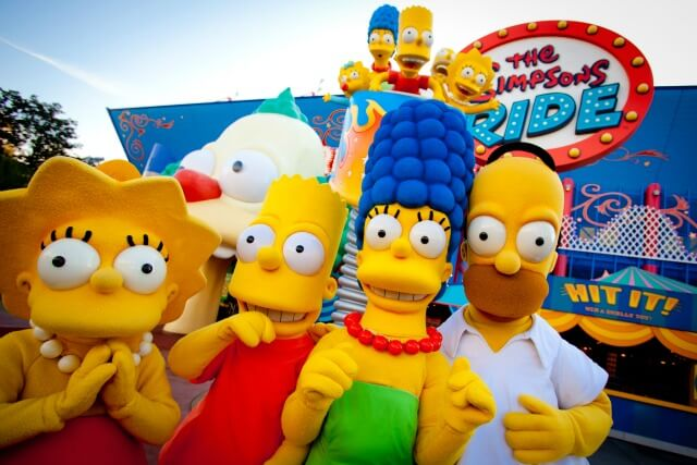 The Simpsons Ride no parque Universal Studios