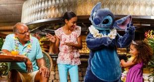 Restaurante Ohana com Lilo e Stitch na Disney Orlando 1
