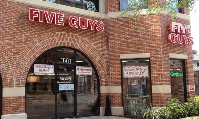Lanchonete Five Guys em Orlando
