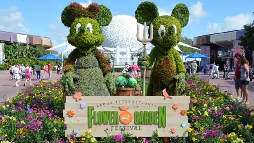 Calendário de lotação dos parques da Disney em 2018: Disney's Flower & Garden Festival