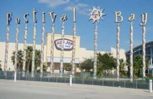 Shopping Festival Bay Mall em Orlando: entrada
