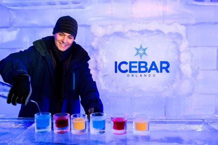 7 atrações fora dos parques de Orlando: Bar de gelo IceBar