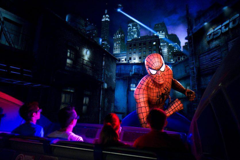 7 brinquedos mais radicais de Orlando:The Amazing Adventures of Spider-Man