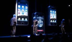 Show do Blue Man Group na Universal Orlando: show com referência à tecnologia
