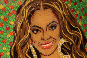 Museu Ripleys Believe it or Not em Orlando: retrato de Beyoncé feito com balas