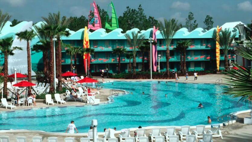 7 dicas para se hospedar em Orlando: piscina de ondas no Disney All Star Sports