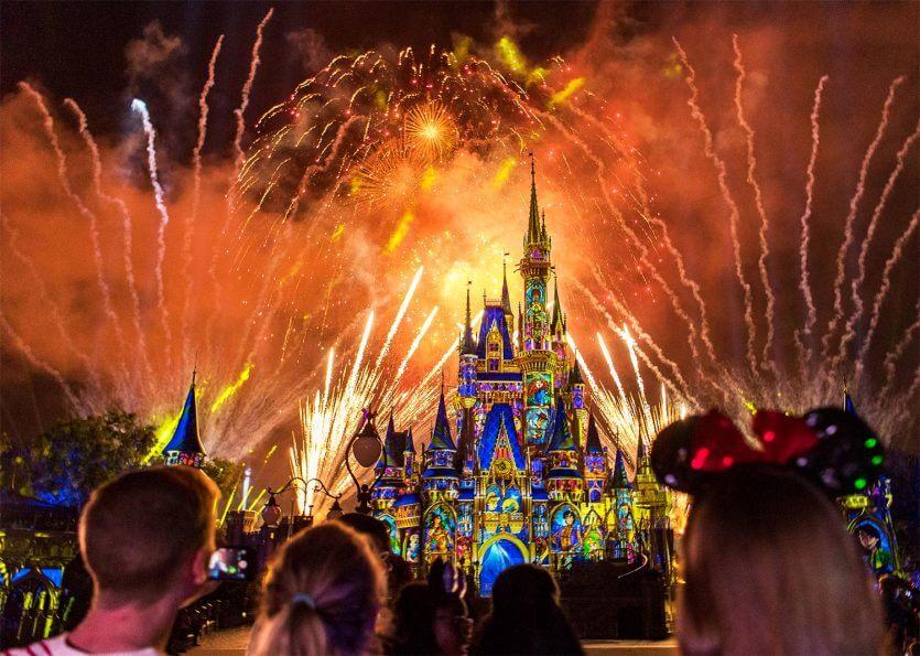 Lua de Mel na Disney e Orlando: Happily Ever After no Magic Kingdom