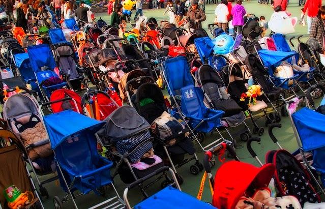 7 dicas para famílias em Orlando: estacionamento de carrinhos de bebê