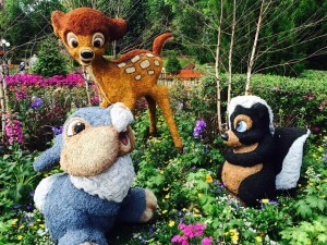 Flower and Garden Festival no Parque Epcot Orlando: Bambi, Tambor e Flor