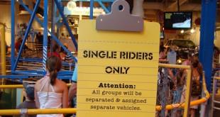 Fila Single Riders nos Parques de Orlando 2