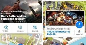 Aplicativo da Universal Orlando para os parques