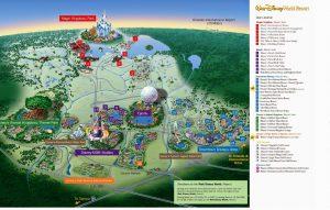 Mapa da Walt Disney Orlando