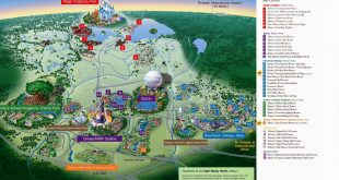 Mapa da Walt Disney Orlando 8