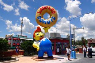 Parque dos Simpsons e Springfield em Orlando 1