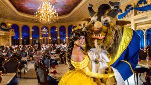 Restaurante Be Our Guest da Bela e a Fera na Disney Orlando: personagens