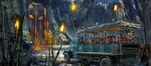 Atração do King Kong na Universal Orlando: Skull Island: Reign of Kong