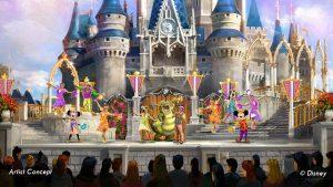 Show Mickey's Royal Friendship Faire no Disney Magic Kingdom Orlando