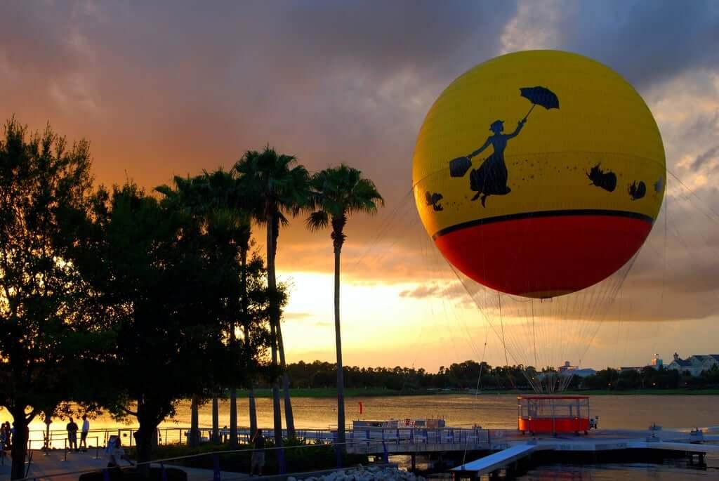 7 atrações noturnas no Walt Disney World Orlando: Passeio de balão Aerophile