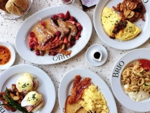 Restaurante italiano Brio em Orlando: opções de pratos de comida