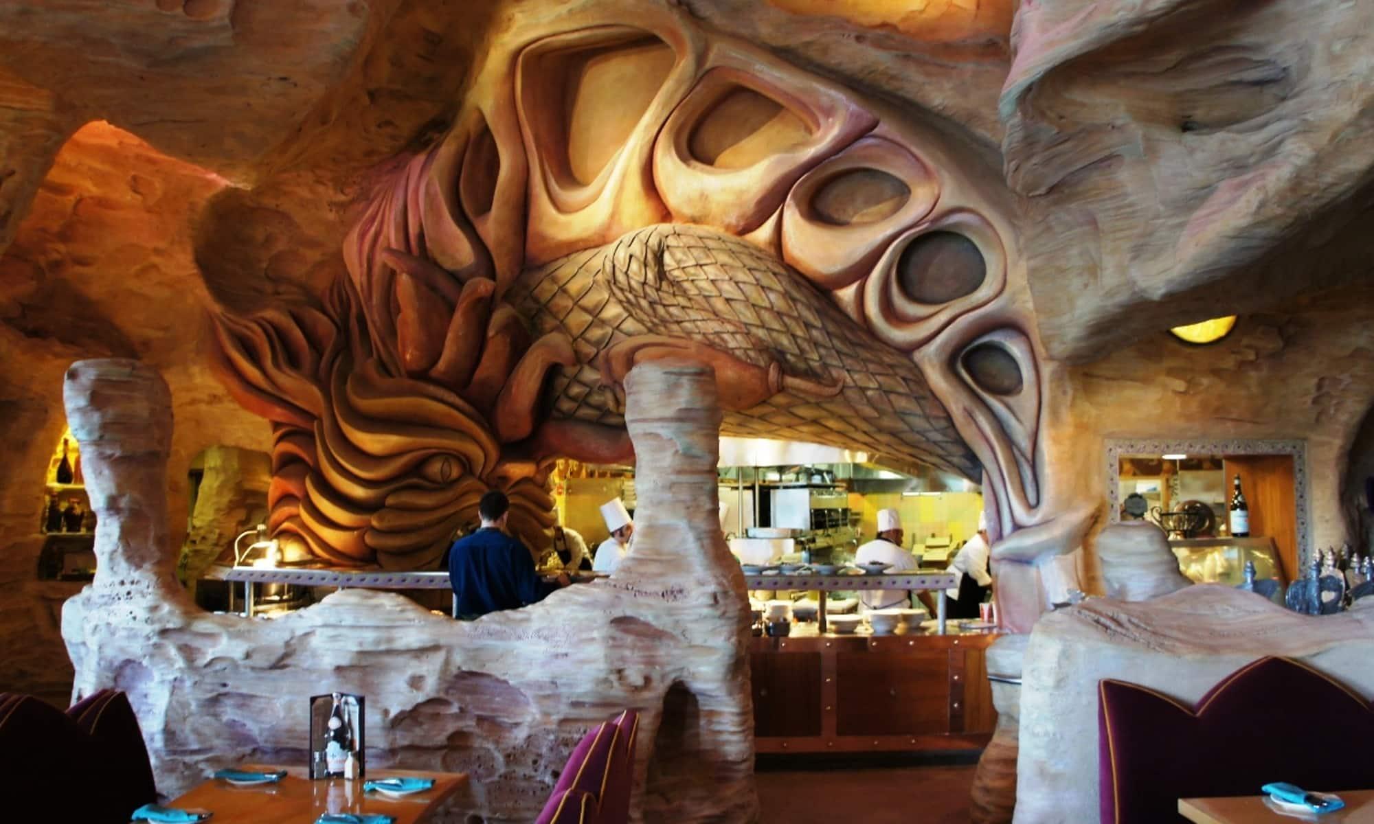 Restaurante Mythos no parque Islands of Adventure Orlando: decoração