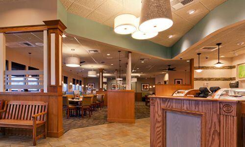 Padaria e restaurante Perkins em Orlando: ambiente interior