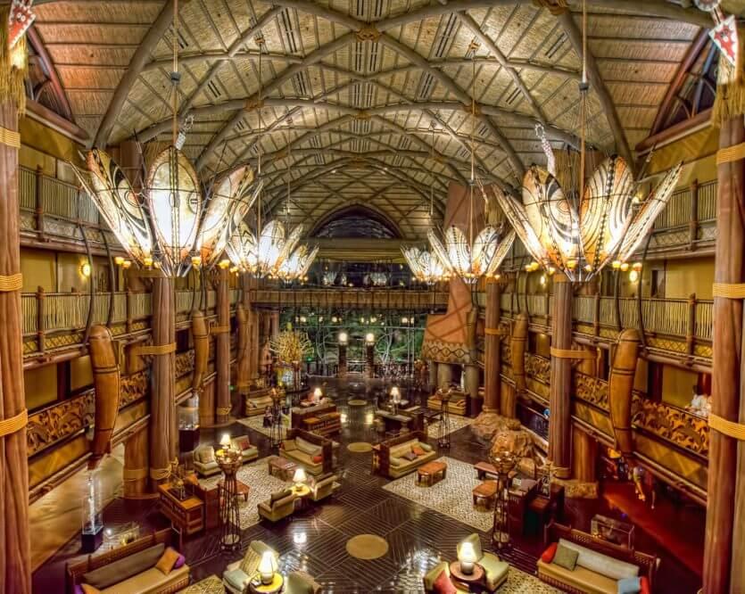 Hotéis próximos aos parquesem Orlando: hotel Disney's Animal Kingdom Lodge