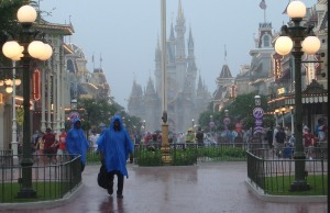 Monte sua programação dos parques Disney em Orlando: chuva parque Magic Kingdom