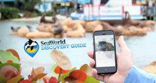 Aplicativo do Sea World Discovery Guide em Orlando