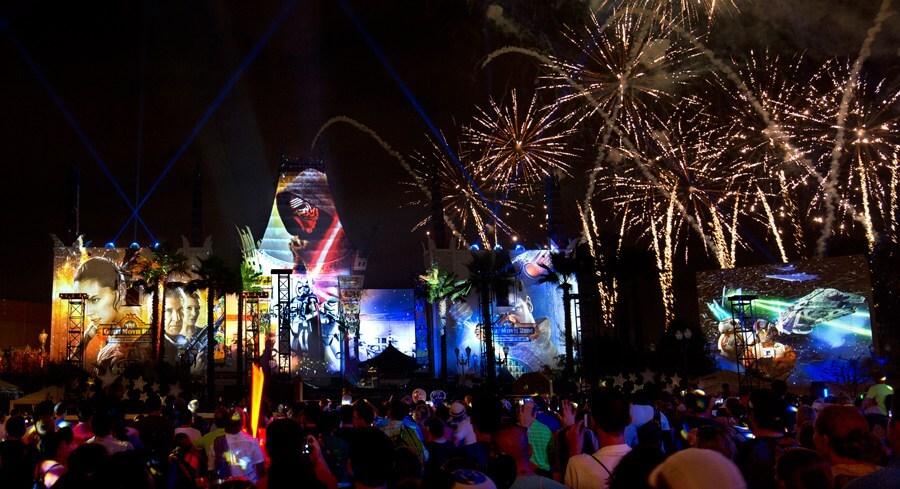 Shows, paradas e apresentações no parque Disney Hollywood Studios Orlando: Star Wars: A Galactic Spectacular