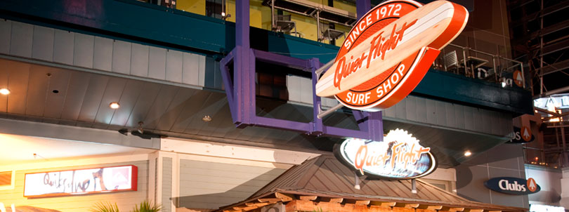 Melhores lojas para compras na Universal CityWalk em Orlando: loja Quiet Flight Surf Shop