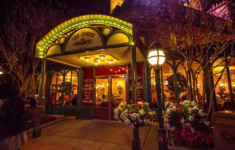 Restaurantes do parque Disney Epcot em Orlando: restaurante Chefs de France