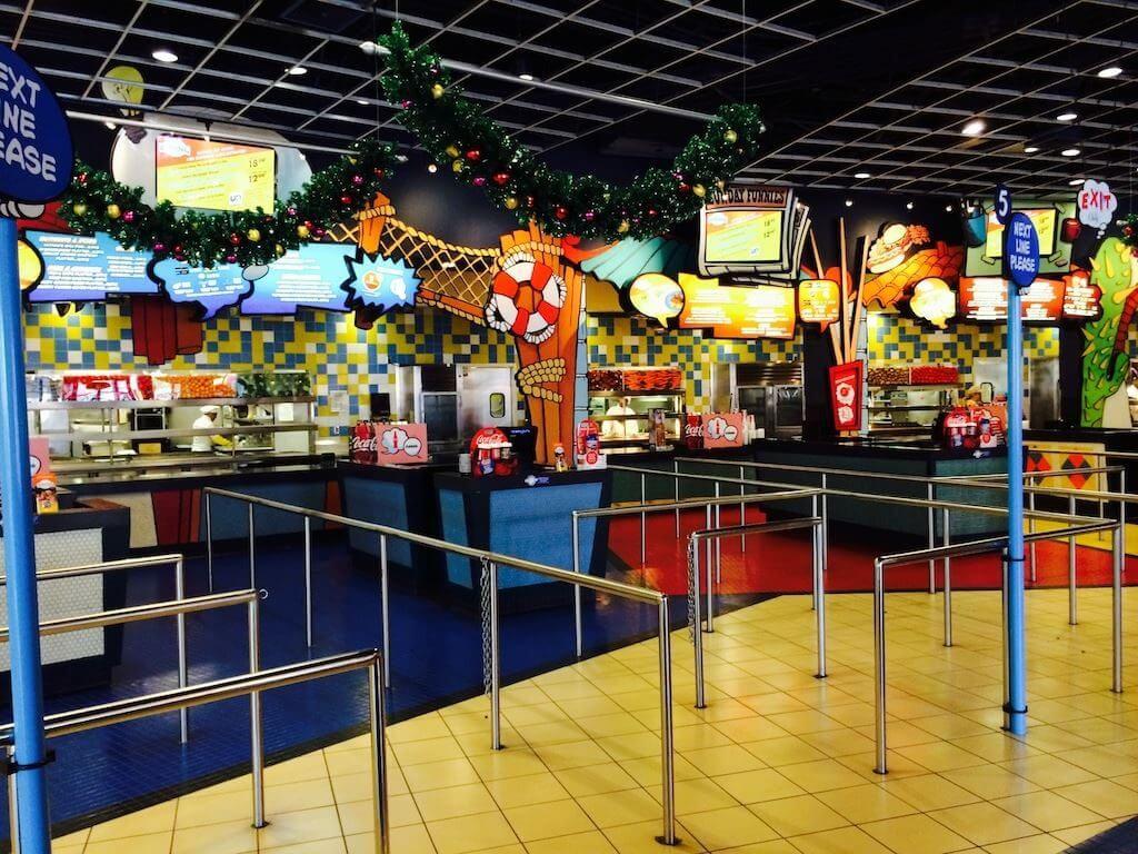 Restaurantes do parque Islands of Adventure em Orlando: restaurante Comic Strip Cafe